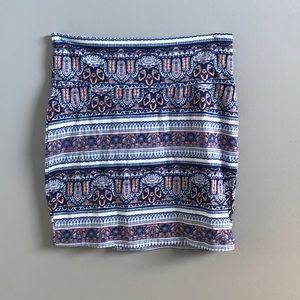 mini stretchy designed skirt